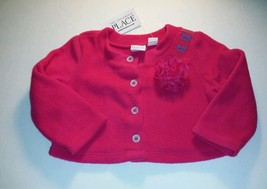 The Children's Place infants Girls Size 9-12m Fleece Button Down Sweater pink - $9.89