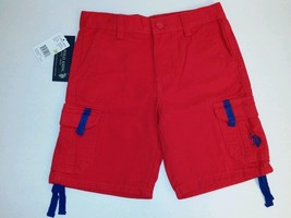 U.S. Polo Assn. Red Blue Cargo Shorts Boy's size 3T Adjustable Waist (#B1 ) - $16.34