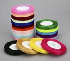 """Closeout Sale 800 yards of 5/8"""" Plain Sheer Organza Nylon Ribbon (12 colors) - $29.65"""