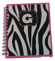 NEW  PERSONALIZED JOURNAL NOTEBOOK SPIRAL BOUND  INITIAL NOTEBOOK LETTER G - $12.38