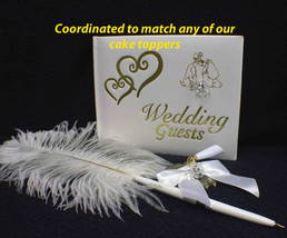 """Coordinated  """"Just""""  Guest Book Pen Holder Match Any Of Our Wedding Cake Toppers - $31.98+"""