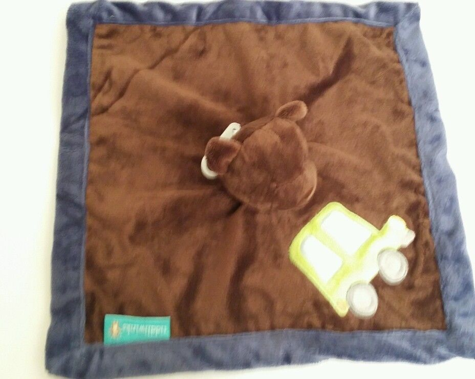 Tiddliwinks bear lovey security blanket Brown Bear truck car Come ride with me - $7.00