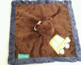 Tiddliwinks bear lovey security blanket Brown Bear truck car Come ride w... - $7.00