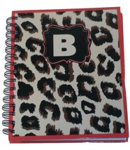 PERSONALIZED JOURNAL NOTEBOOK SPIRAL BOUND CHEETAH PRINT NOTEBOOK LETTER B - $12.38