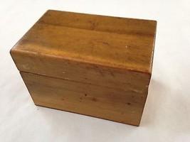 "Vintage Shabby Wood 3 1/2 X4 X 5.5"" Recipe Box  - $17.56"