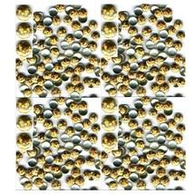 Hologram Round Nailheads Gold 3mm Hotfix Iron On 1gr - $3.49