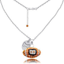 High Quality Illinois Fighting Illini Czech Crystal Football Necklace - $59.00