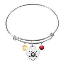 Miami OH Redhawks Sterling Silver Bangle Bracelet - $79.00