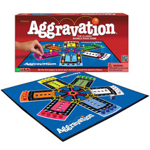 Aggravation Classic Board Game- 1962 Artwork - Race Your Marbles Around - $20.70