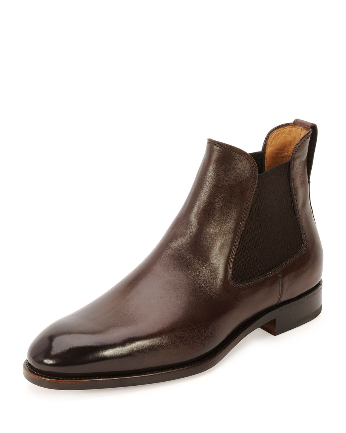 handmade brown leather boots ankle high real