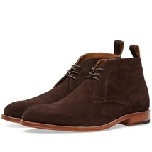 Handmade mens chukka suede boots, Men suede ankle boot, Men brown suede boots - $159.99