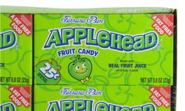 Ferrara Pan Lemon Head Candy Apple Head 1 Box 24 Lemonhead Candies Apple... - $14.95