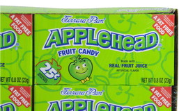 Ferrara Pan Lemon Head Candy Apple Head 2 Boxes of 24 Total 48 Applehead... - $26.95