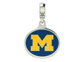 Michigan Wolverines Drop Charm Fits All European Style Charm Bracelets - £42.30 GBP