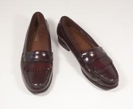 Bostonian 9.5 Burgundy Loafers Kiltie Leather Shoe Oxblood Made in USA - $72.00