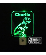 Personalized T-Rex Dinosaur LED Night Light- Kids Lamp, Nitelite, nurser... - $24.00