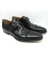 Magnanni Mens Black Leather Monk Strap Dress Shoes Size 9.5 M Made In Spain - $57.82
