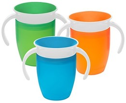 Munchkin Miracle 360 Degree 7 Ounce Spoutless Trainer Cup, 3 Pack, Green... - $30.80