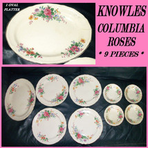 Vtg 50s 9pc Lot KNOWLES Pink ROSE Columbia Plat... - $55.99