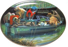 Collector Plate Kitty Cat Catfish Creek Boat Fi... - $49.95