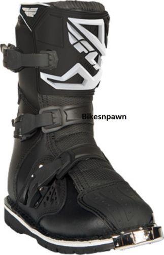 New Fly Racing Maverik Adult Size 12 Shorty Dual Sport ATV Black Boots 364-66612