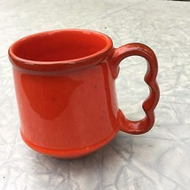 Metlox Poppytrail Rooster Red Coffee Tea Drink Mug Cup Tapered Contour H... - $12.38