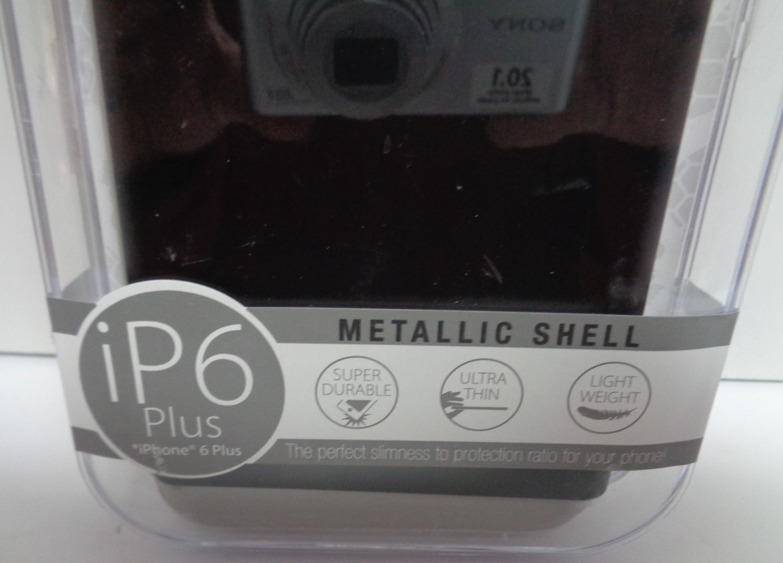 IPhone 6 Plus Black Cell Phone Case Metallic Shell NIB