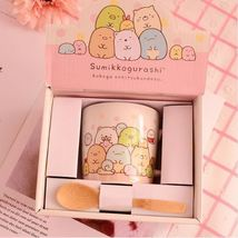 Cartoon Sumikkogurashi Family Mug Ceramic Coffee Milk Tea Cups + Wood Spoon - $28.95
