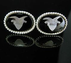 Sterling Eagle Cuff links vintage silver hallmarked Cufflinks Patriotic ... - $225.00