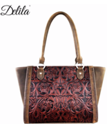 Delila Genuine Leather Tooled Structured Tote P... - $119.00