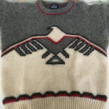 vintage wool pullover sweater thunderbird eagle southwest design woolric... - $51.48
