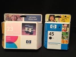 HP 23 + HP 45 inkjet multipack tri color c1823t & Black Factory Sealed OEM - $19.35