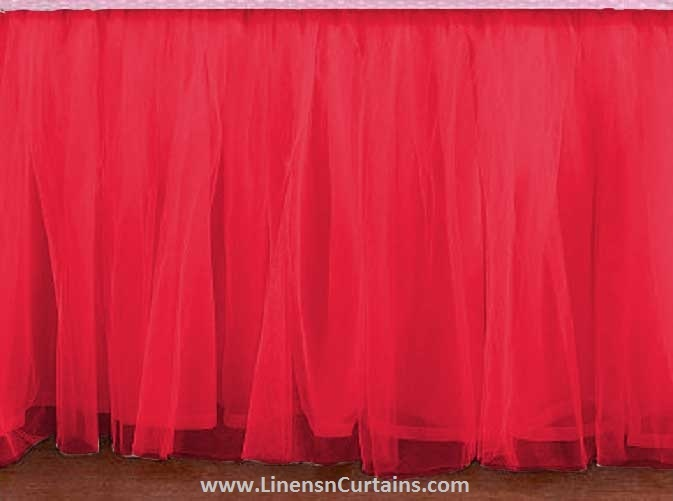 King Size Coral Tulle Ruffled Bed Skirt In And 13 Similar Items