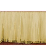 King size CREAM Tulle Ruffled Bed Skirt in any drop length - $75.99+