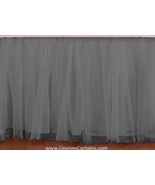 King size LIGHT GREY Tulle Ruffled Bed Skirt in any drop length - $75.99+
