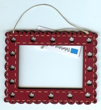 Red mini rectangle frame wooden The Bee Company  - $4.10