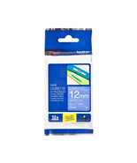 Brother Laminated 12mm Tape Cassettes (Pack of 6), White on Blue, TZe-535 - $116.99