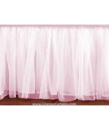 King size LIGHT PINK Tulle Ruffled Bed Skirt in any drop length - $75.99+