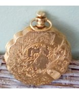 Max Factor Compact. Pocket Watch Style. Garden Scene.  Vintage Jewelry. ... - $20.00