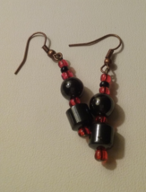 Artisan Crafted Handmade Red & Black Magnetic B... - $4.50