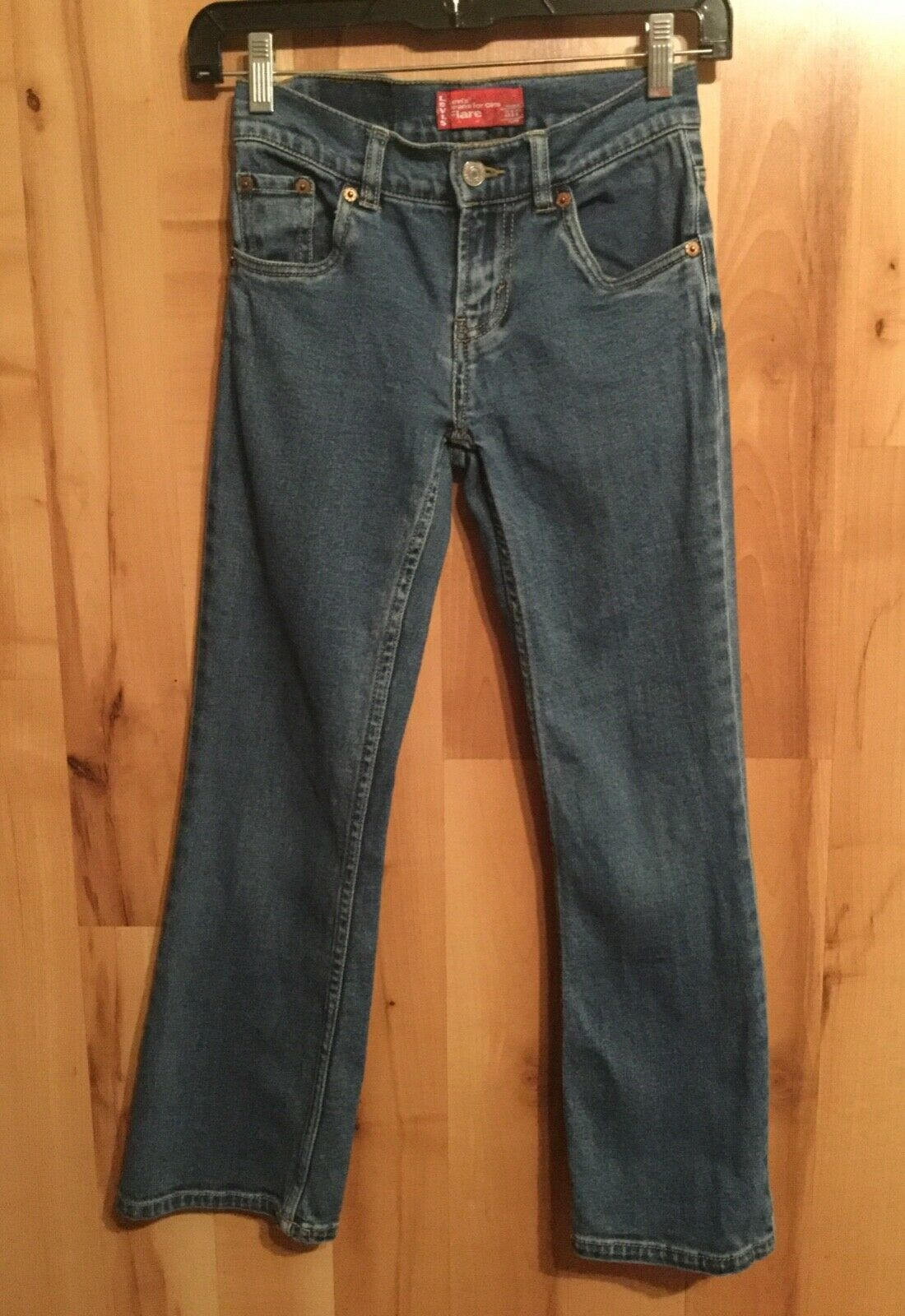Primary image for Levi's 517 Jeans For Girls Flare Size 8 Regular Five Pocket Med Wash Stretchy