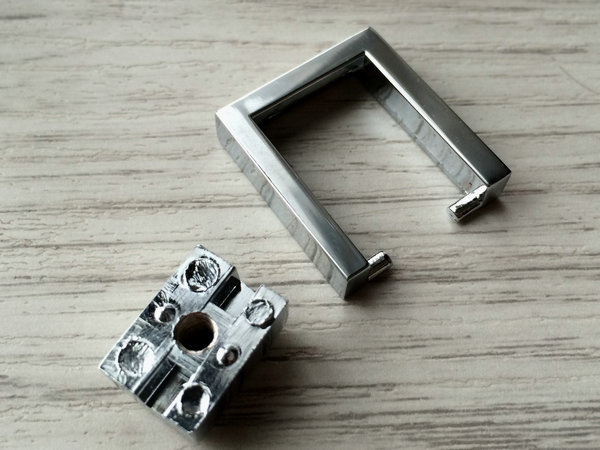 Chrome Square Drop Ring Handles