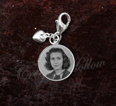 925 Sterling Silver Charm Your Custom Image Keepsake Photo Picture - $25.25