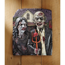 The Walking Dead Gothic Flesh Hungry Zombie Couple Pitchfork Wall Sculpture - £52.27 GBP