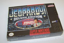 vtg 1991 Jeopardy deluxe edition  SNES sealed video game nintendo - $14.96