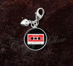 925 Sterling Silver Charm Mixtape Cassette Retro Image - $25.25