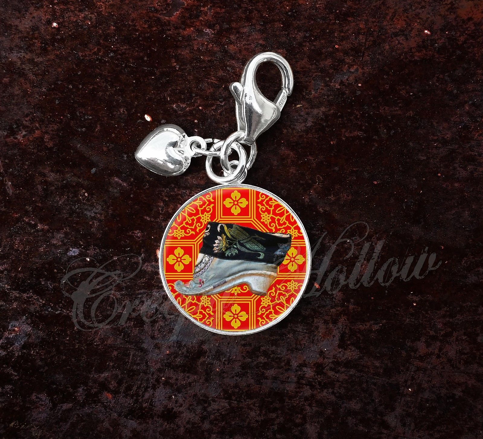 Primary image for 925 Sterling Silver Charm Foot Binding Chinese Culture