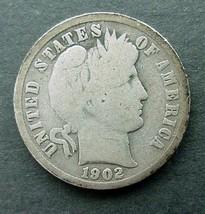 1902 Barber Dime, Good - $3.00