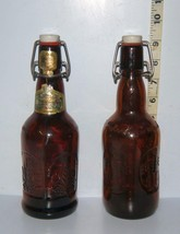 Lot of 2 Vintage Grolsch Commerative 1986 Reusable Brown Beer Bottles EMPTY - $7.51