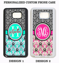 TEAL PINK FLEUR DE LIS DAMASK MONOGRAM CUSTOM Case For Samsung Galaxy S6... - $11.99+